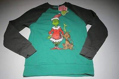 The Grinch Green  Christmas Sweater Kids Youth Size ls or med