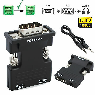 1,8 M HDMI Auf VGA Kabel Adapter Laptop PC Projektor 1080 Monitor Video