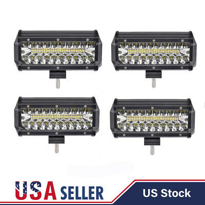 "4PCS 5"" INCH 288W Cree LED Work Light Bar Flood Combo Pods Driving OffRoad Truck"