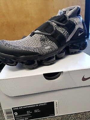 53f0ffa8d1 NEW Nike Air Vapormax Flyknit Utility Sz 9 Moon Particle/White-BlK AH6834-