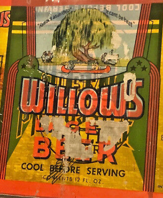 Willows/Pilsengold Double Print O/I Flat Top Beer Can Sheet Opening Instructions