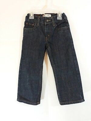 Levi's 505 Regular Boys Size 3T Blue Jeans Ages 2 To 3 Years of adjustable waist