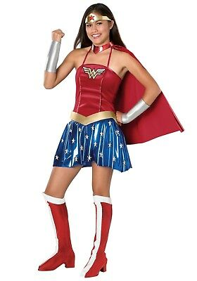 WONDER WOMAN TEEN JUNIORS COSTUME SIZE 2-6 (w/defect)