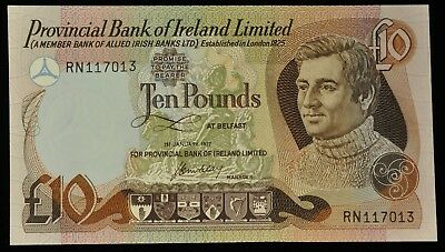 1977 RARE Uncirculated Provincial Bank Of Ireland 10 Pound Note. ITEM Y7