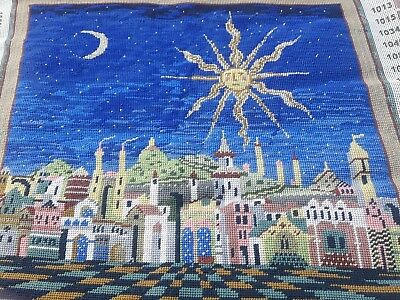 """Ehrman Needlepoint completed cushion front or picture """"Starry Night"""""""