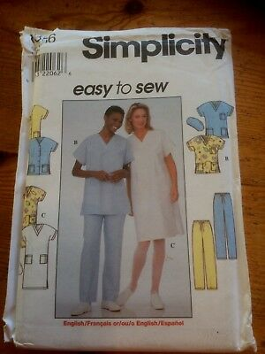 "Simplicity ""Scrubs"" + Hat paper sewing pattern. New & Uncut 8336 size  L-Xl"