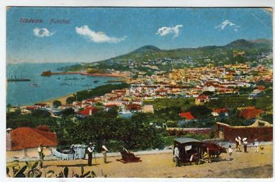MADEIRA - Portugal - General View - c1920s era used postcard