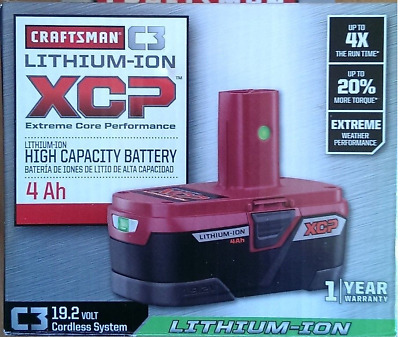 Craftsman C3 19.2V Volt XCP 4Ah Lithium-Ion High Capacity Battery Heavy Duty NEW