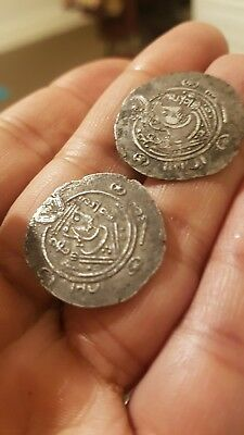 Dabuyads of Tabaristan Arab sasanian coin ancient persian india Gandhara