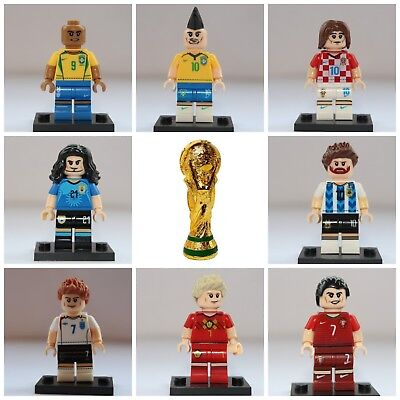 Fifa Football Ronaldo Messi Beckham World Cup Toy lego Basketball Mini Figures