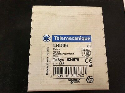 Schneider Telemecanique thermal overload relay LRD06 1 - 1.6A