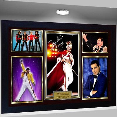 Freddie Mercury Queen Framed Photo PRINT reprint POSTER Perfect gift