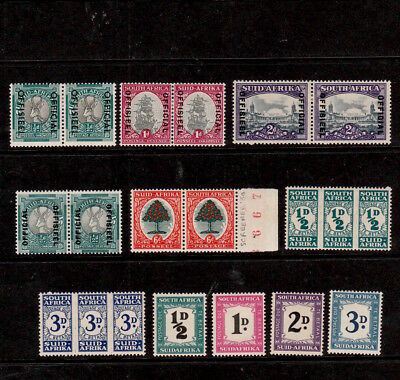 SOUTH AFRICA 1940s SELECTED MINT STAMPS INCLUDING POSTAGE DUES & OFFICIAL PAIRS