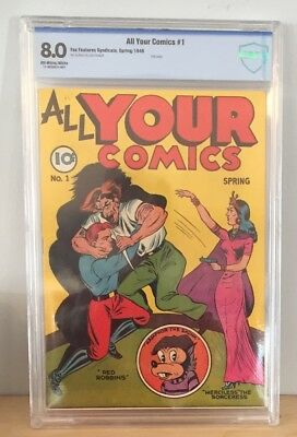 All Your Comics #1 1946, CBCS 8.0, Red Robbins, Merciless the Sorceress, not CGC