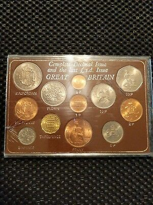 1967 Complete Decimal Issue Great Britain! Coin Lot!