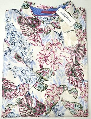 ce4f933991dac6 NWT  150 Tommy Bahama Short Sleeve White Pink Blue Green Floral Camp Shirt  NEW