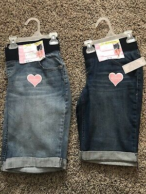 New Great Expectations Maternity Denim Jean Shorts Lot-Fit to Flatter Small 4-6