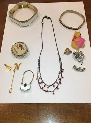 Nice Lot Of Vintage To Modern Jewelry-Signed, Plastic, Bracelets, Brooches &