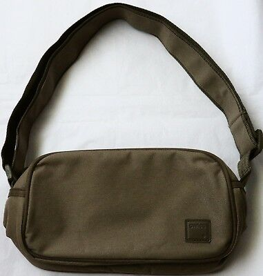 Swiss Airlines Toiletry Amenity Travel Bag First Class Beige Swissair Empty New