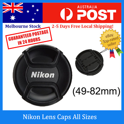Nikon Lens Cap -49, 52, 55, 58, 62, 67, 72,77, 82mm Snap-on Replacement Lens Cap