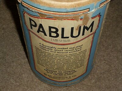 Pablum Cereal Oatmeal Vintage Container