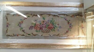 Beautiful Large Victorian? Antique tapestry Needlework with modern gold frame