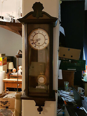 Old Antique Wall Clock from Lenzkirch Regulator Early Version