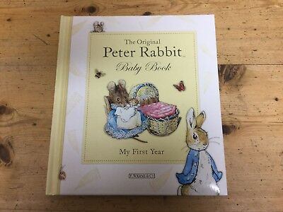 Peter Rabbit Baby Book My First Year-New