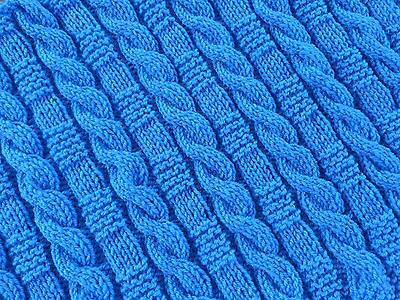 Knitting pattern-  Cables & Garter Stitch Baby Blanket