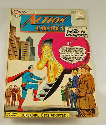 DC Comics - Silver Age Action Comics #271 Superman Supergirl Dimension X (1960)