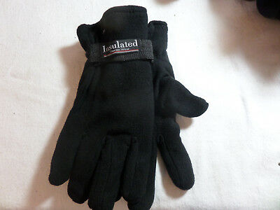 Mens Insulated Winter Knit Glove Size Med/ Large