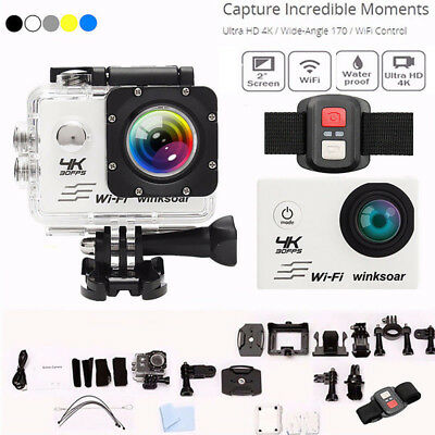 SJ9000 4K Ultra HD 1080P Wifi Sport DV Action Camera Mini Cam Camcorder + Remote