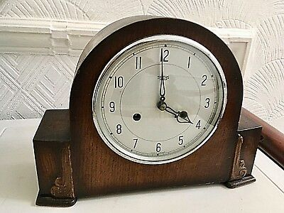 Vintage Smiths - Enfield Chiming Mantel Clock Fully Working