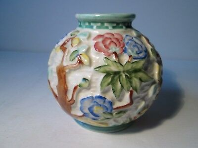 Vintage H. J. Wood Indian Tree Pattern Hand-Painted Vase.  12cm High Approx.