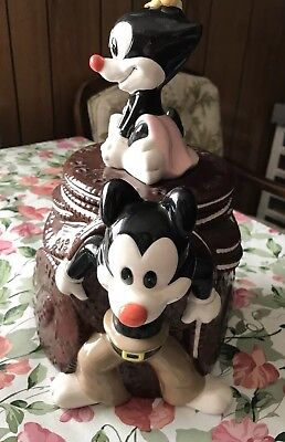 Animaniacs Cookie Jar Warner Bros Yakko Wakko Dot 1994 Vintage Ceramic