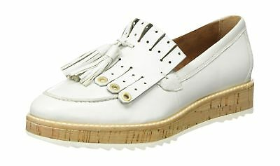 TAMARIS WOMEN'S WHITE Leather Lambskin Ankle Flat Boots Size