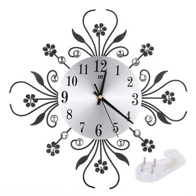Modern Flower Style Clock Pendulum Wall Clock Hanging Home Kitchen Decor UK WM