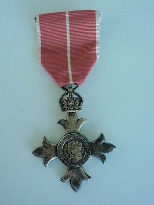 Great Britain Obe Order Officer Grade For Military. Silver/gilt/marked. Rare Vf+