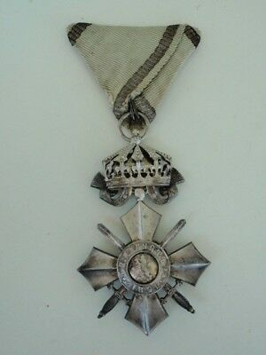 Bulgaria Order Of Military Merit 6Th Class With Crown. Rare.  Vf+