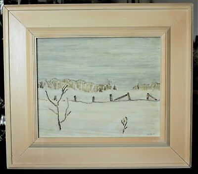 Original Painting By Group Of Seven Friend Canadian Barker Fairley (1887-1986)
