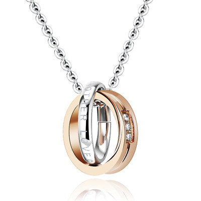 Fashion Unisex 316L Stainless Steel adjustable Chain Pendant Necklace Gift X1063