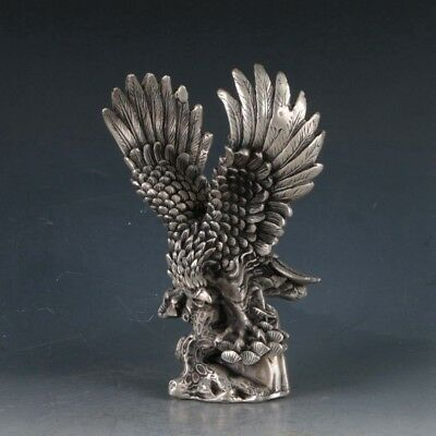 Chinese  Silvering Copper Eagle Statues Made By The Royal DaQingBT0060