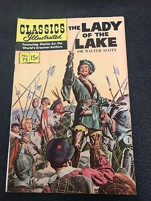 classics illustrated No 75 Hrn 167 Comic Book The Lady Of The Lake High Grade