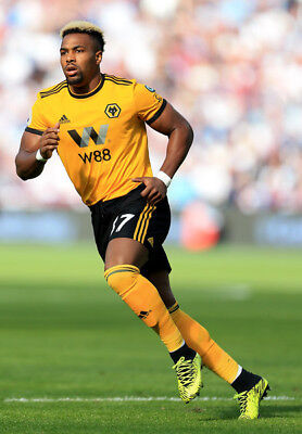 Wolves FC Adama Traore Unsigned 6x4 Photo