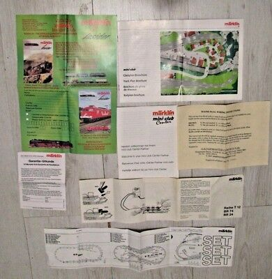 Marklin Mini Club Z Gauge Collection of Literature, Please see pictures