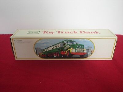 1984 Hess Toy Truck - Tanker with Bank - NIB