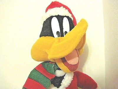 Daffy Duck Christmas Santa Plush Looney Tunes Warner Bros 1998