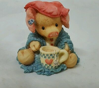 Enesco ~ This Littly Piggy ~ Stayed Home Figurine ~ # 124532 ~ 1994