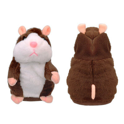 Talking Hamster Mouse Pet Plush Toy Cute Speak Sound Record for Children Baby US