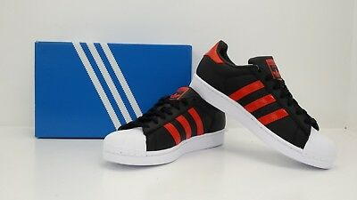Adidas Originals Men's Superstar Shoes Black/Orange B41994 - BRAND NEW IN BOX